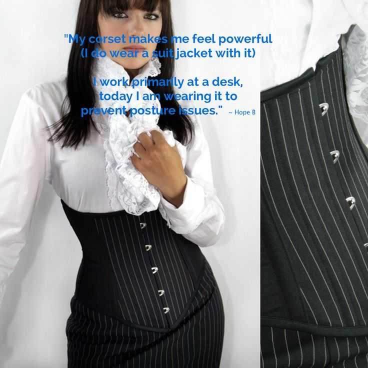 Corporate women wearing corsets as part of their work clothing..what's going on?!
