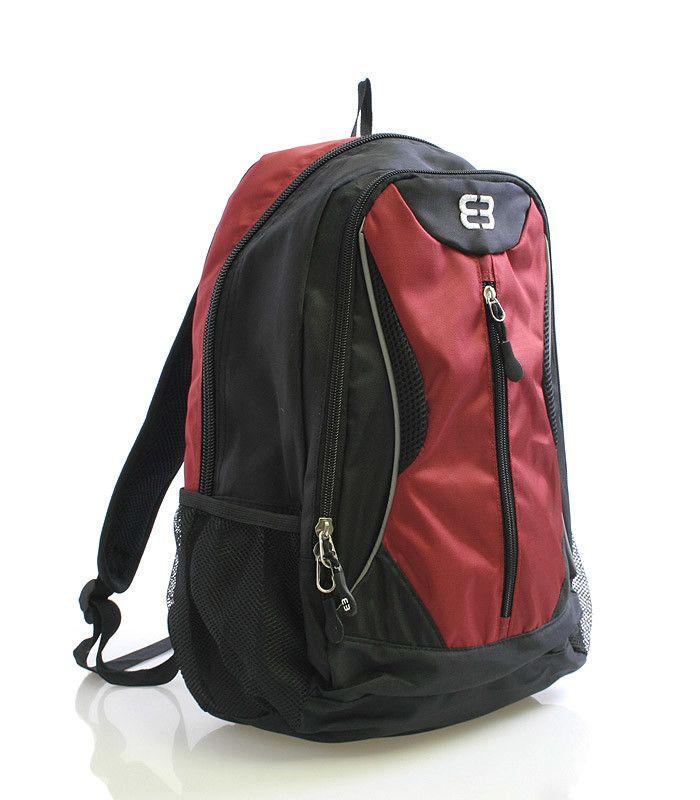 #EnricoBenetti Červený odlehčený batoh Enrico Benetti s polstrovanou kapsou na notebook nebo tablet s max. rozměry 26 x 37 cm. Batoh má vyztužená a odvětrávaná záda, nastavitelné polstrované popruhy, několik kapes a postranní síťky na láhve s pitím. Dopřejte si kvalitní a pohodlný batoh pro vaše tůry.