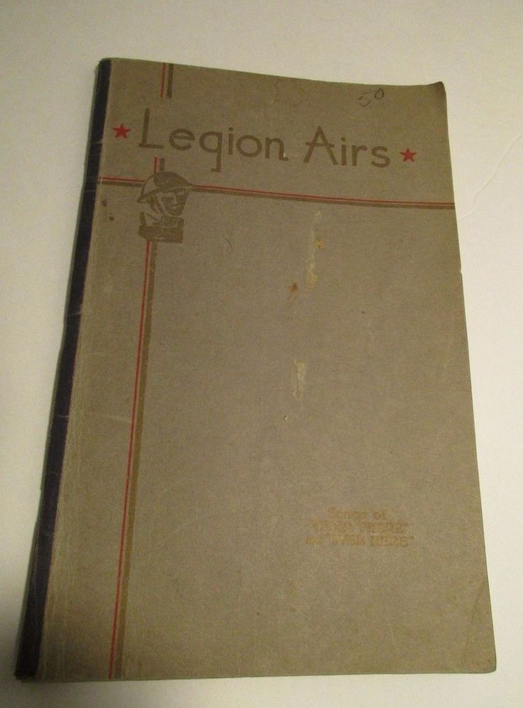 "VTG 1932 Song Book Legion Airs Military Music Leo Feist Inc. ""Over There"" 144 pg"