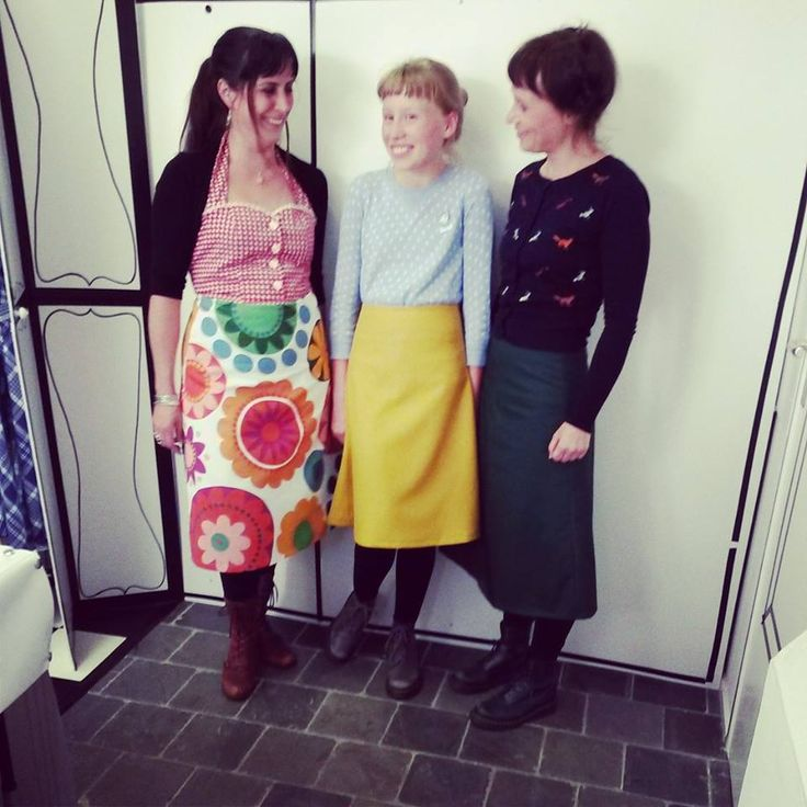 Yvonne, Elvis & Daan in their home made House of Dots skirts!