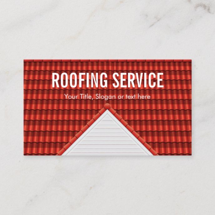 Roof Repair Construction Roofing Business Card Zazzle Com Construction Business Cards Roofing Business Roof Repair