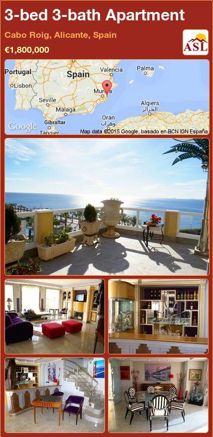 3-bed 3-bath Apartment in Cabo Roig, Alicante, Spain ►€1,800,000 #PropertyForSaleInSpain