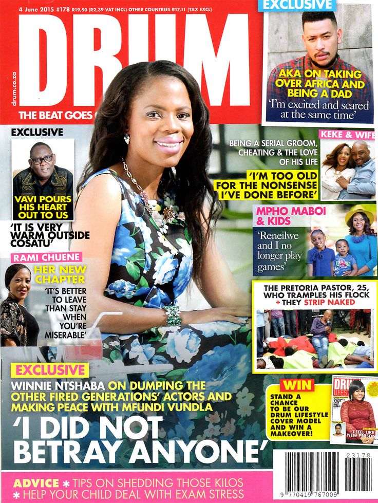 Have you seen the beautiful Winnie Ntshaba wearing DemocraticRepublic clothing - in the June issue of @DrumMagazine ?