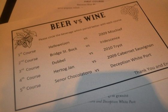 Beer Versus Wine - Iron Hill Brewery and Black Walnut Winery (Round 2)