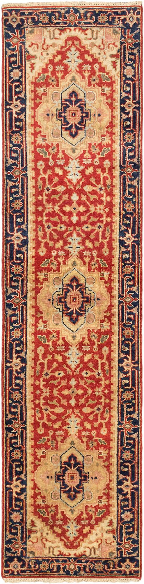 Serapi Heritage Hand Knotted Dark Copper Area Rug Rugs