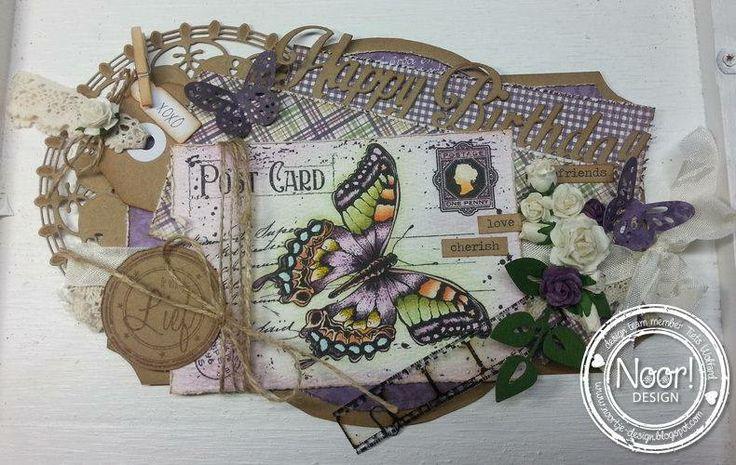 6410/0072 Noor! Design Stempel old letter butterfly door Tiets Wolfard