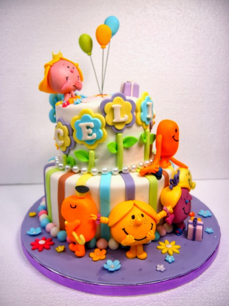 mr men and little miss cakes - a lot of modeling