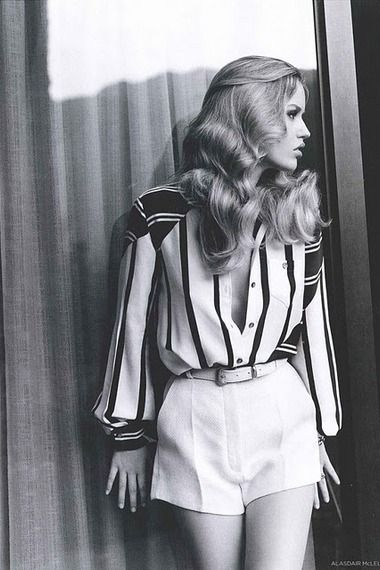 Fashion 70's, Look, Tailoring; Stripes