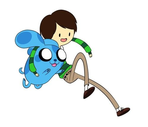 Adventure Time & Blue's Clues I cannot be happier with the person who made this.