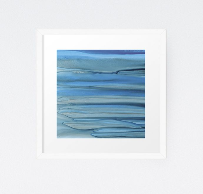 Meltwater Outwash - Original Watercolor & Ink Painting by Michelle Waldie