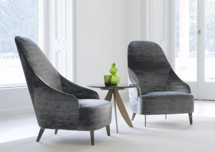 Velvet Vanessa modern armchair made by BertO #italianfurniture