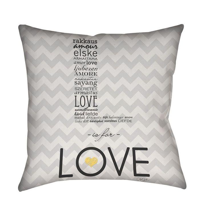 Thumbprintz L is for Love Throw/ Floor Pillow (