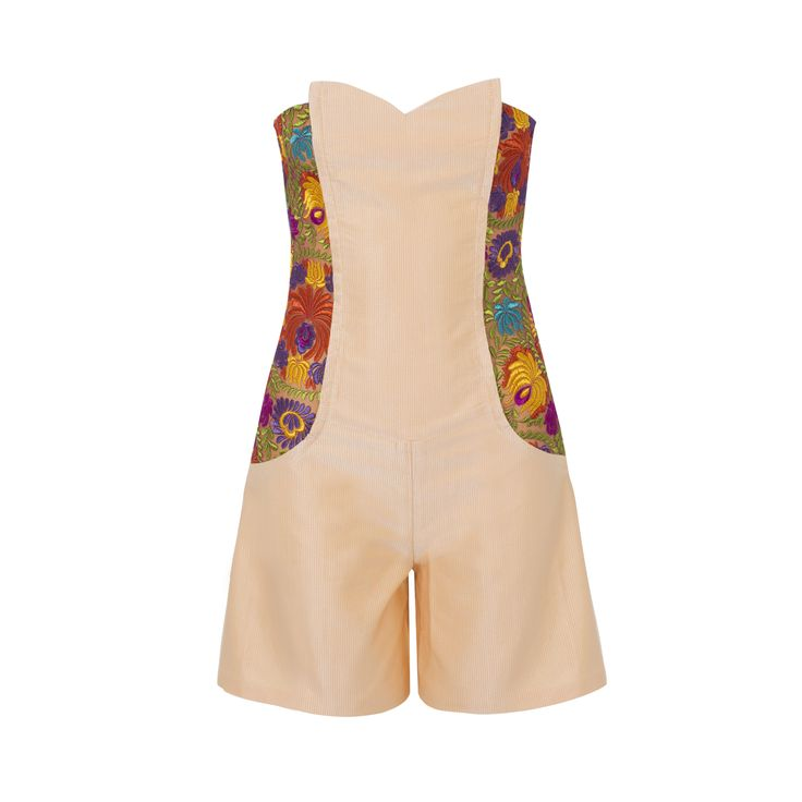 Silk Faille Embroidered Strapless Playsuit | Funlayo Deri | Wolf & Badger