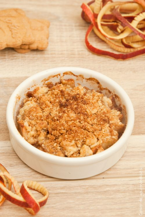 Apple & Speculoos Crumble, deliciously crunchy!