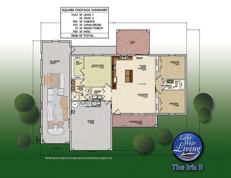 Home with rv garage plans