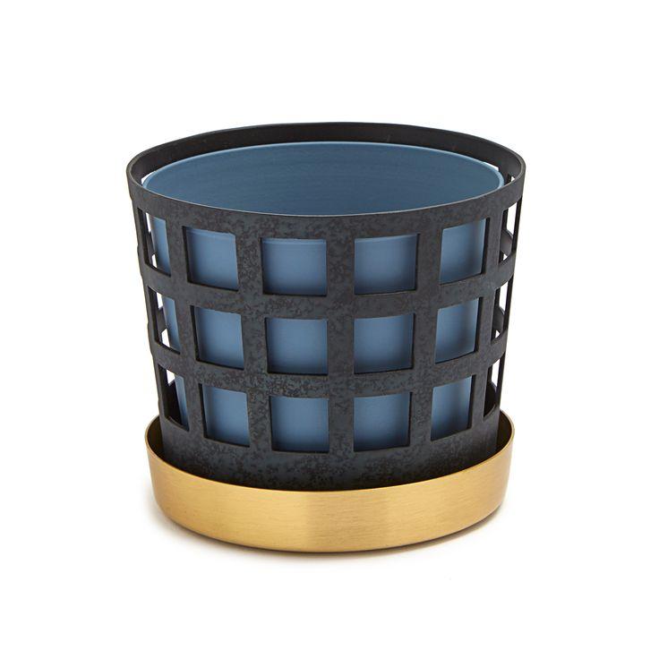 Trio+Pot+Krukke+Liten+Square,+Blå,+Klong