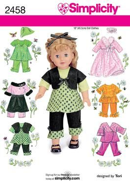Simplicity doll patter #2458
