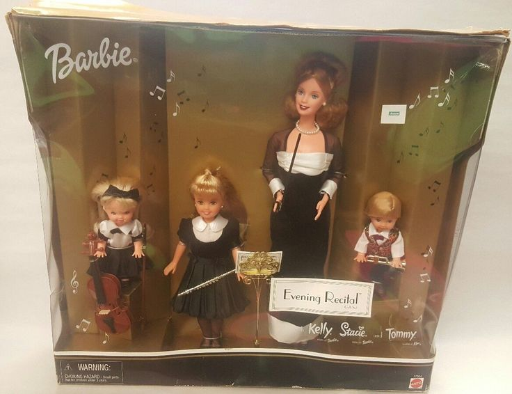 Barbie Evening Recital Kelly, Stacie, and Tommy Musical Set | eBay