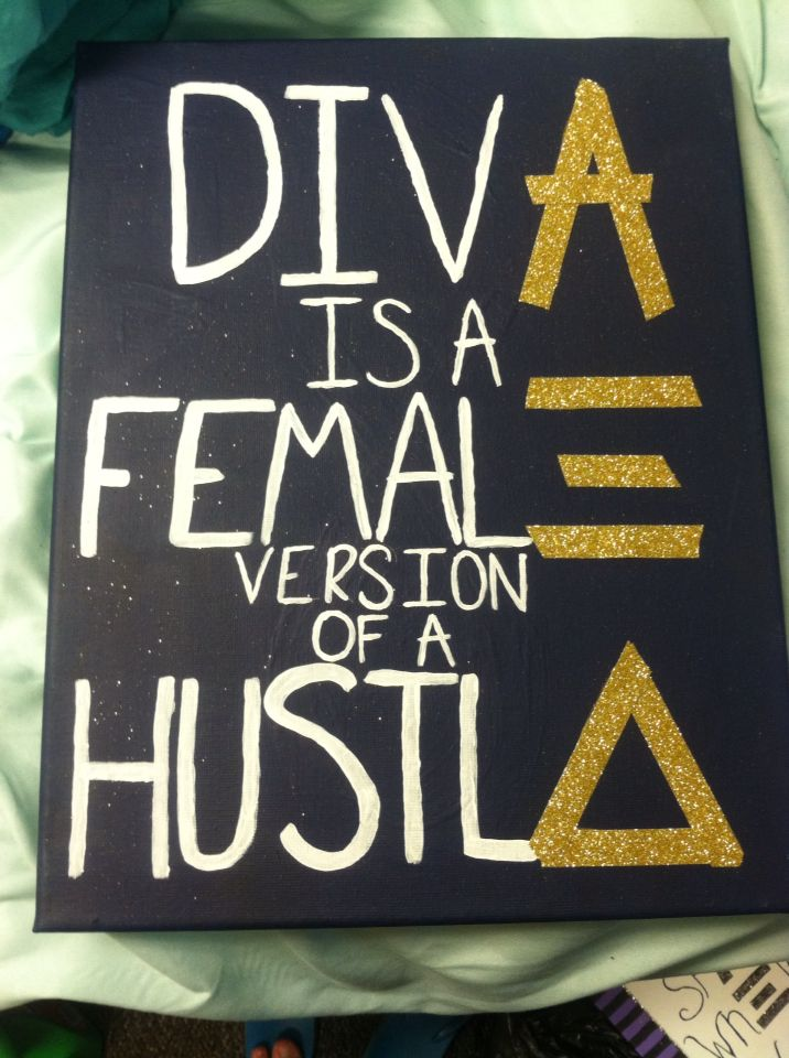Alpha Xi Delta Sorority Canvas