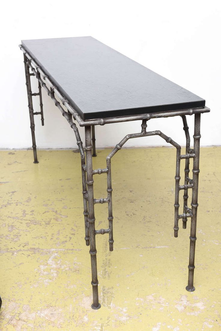 Amazing Metal Faux Bamboo Console Table