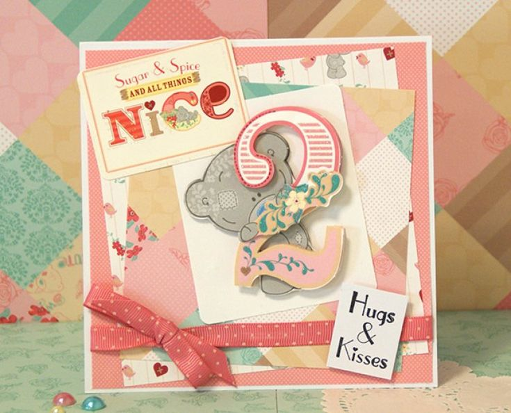 Me to You Tiny Tatty Teddy 2nd birthday card for a girl by Maxine