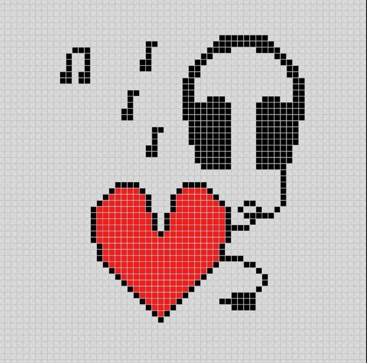 Ich Liebe Musik Ich Liebe Musik Pixel Art Patterns Liebe Musik Patterns Pixel In 2020 Musterkunst Coole Bilder Zum Zeichnen Muster Malen