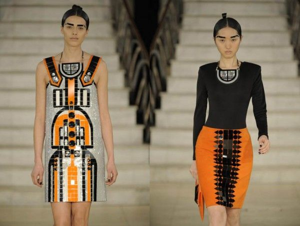 Art Deco Collection 2009 by Holly Fulton: Color, Artdeco Fashion, Deco Orange, Art Deco Fashion, Holly Fulton, Egyptian Art, Dresses Patterns, Art Deco Dresses, Deco Inspiration