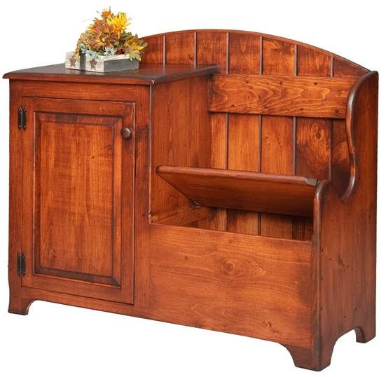 Deacons Bench with Cabinet