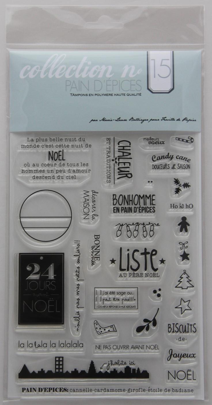 MATERIEL Tampons Marie-Laure Bollinger pour Feuille de papier Collection N° 15 Pains d'épices - Feuille de papier - Kits en ligne
