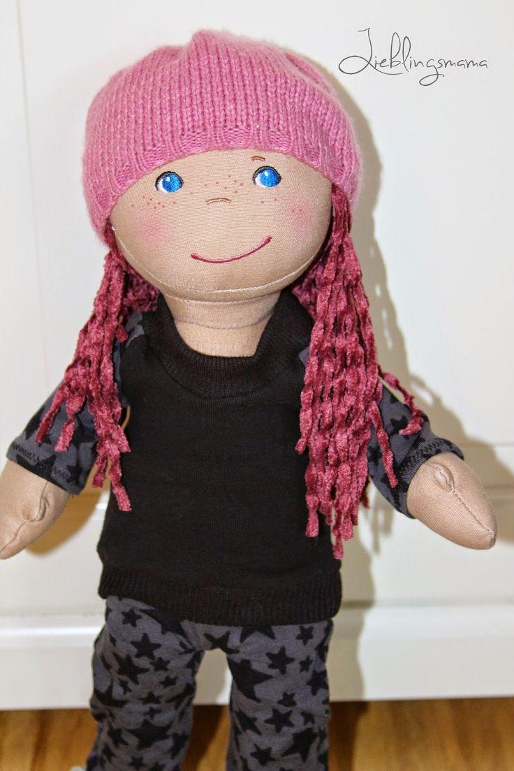 Raglan Pulli / Oberteil für die Puppe nähen - Püppis Liebling #2: Raglanpulli 38cm