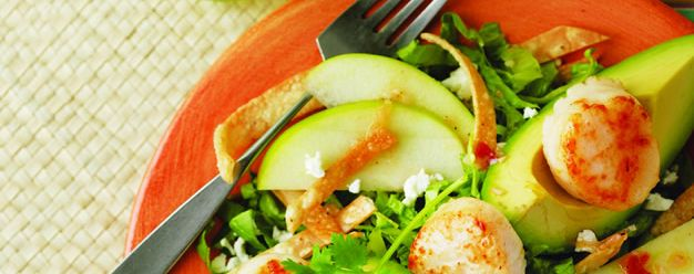 #iloveavocados // Avocado Goat Cheese Salad with Grilled Sea Scallops