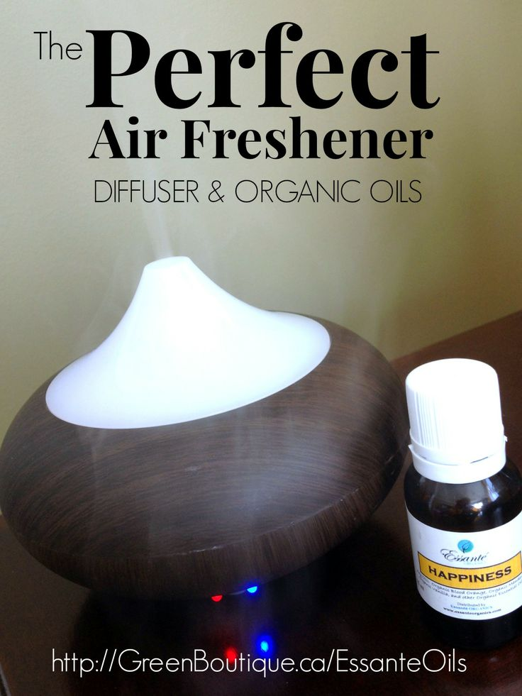 The perfect air freshener...diffuser and organic essential oils!  http://GreenBoutique.ca/essanteoils