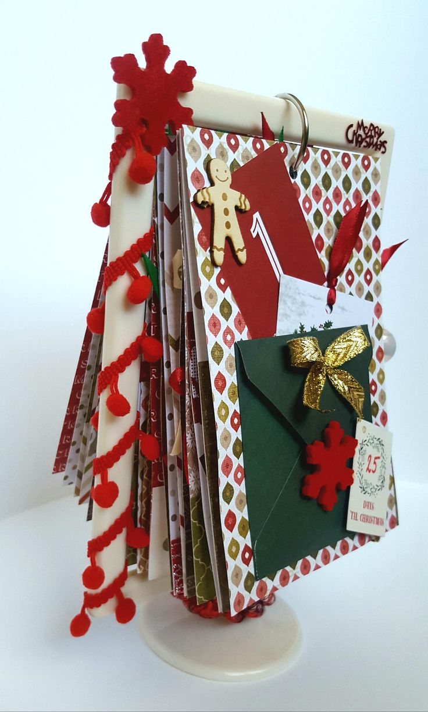 Christmas calendar handmade on stander by HomemadeTreasuresss on Etsy