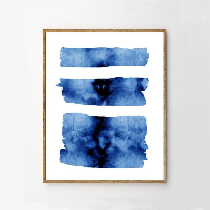 Blue Abstract Watercolor Brushstrokes Stripes Minimalist art Large Wall art Abstract Painting Indigo Navy Wall art Beach Nautical Modern art by simplegeometry on Etsy https://www.etsy.com/listing/507635461/blue-abstract-watercolor-brushstrokes