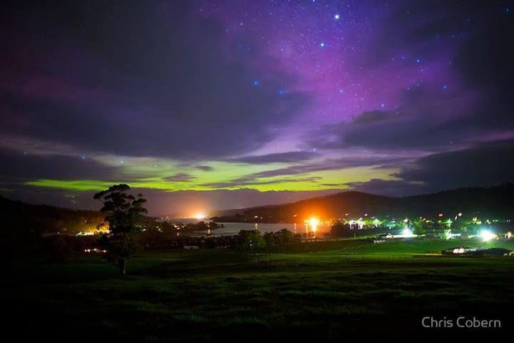 Aurora Australis from Cygnet, Tasmania