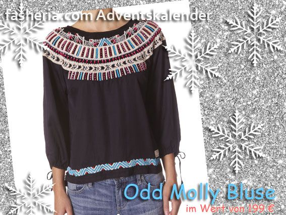 fasheria #Adventskalender // Noch eine Odd Molly Bluse #Gewinne deine Odd Molly Bluse bei fasheria.com. #Christmas #Weihnachten #Gewinnspiel #xmas #fashion #bluse #outfit