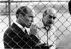 Robert Duvall as Tom Hagen and Michael V Gazzo as Frank Pentangeli, The Godfather II