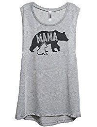 New Thread Tank Mama Bear Mother To Be Women's Sleeveless Scoop Muscle Tank Top Tee online. Find the perfect Thread Tank Tops-Tees from top store. Sku AQJV19083MWPH96842