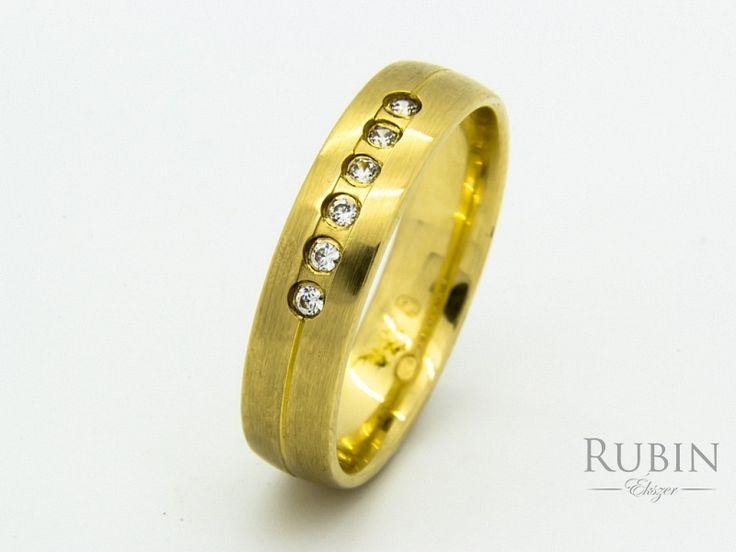 Cirkónia köves arany karikagyűrű