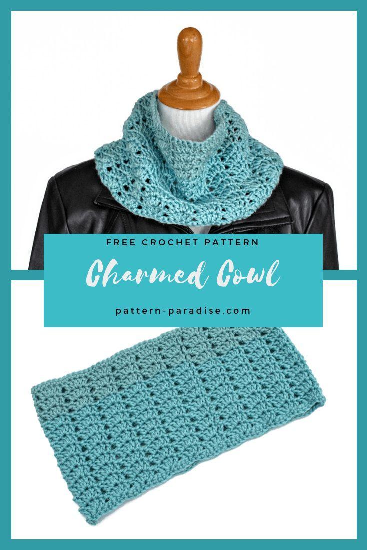 Free Crochet Pattern Charmed Cowl Snood Crochet Pinterest