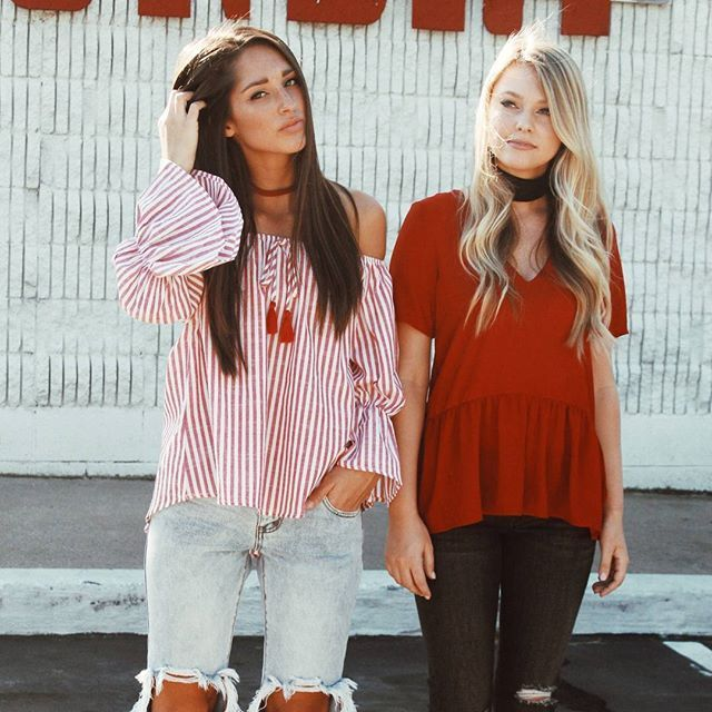 red and white // fall style