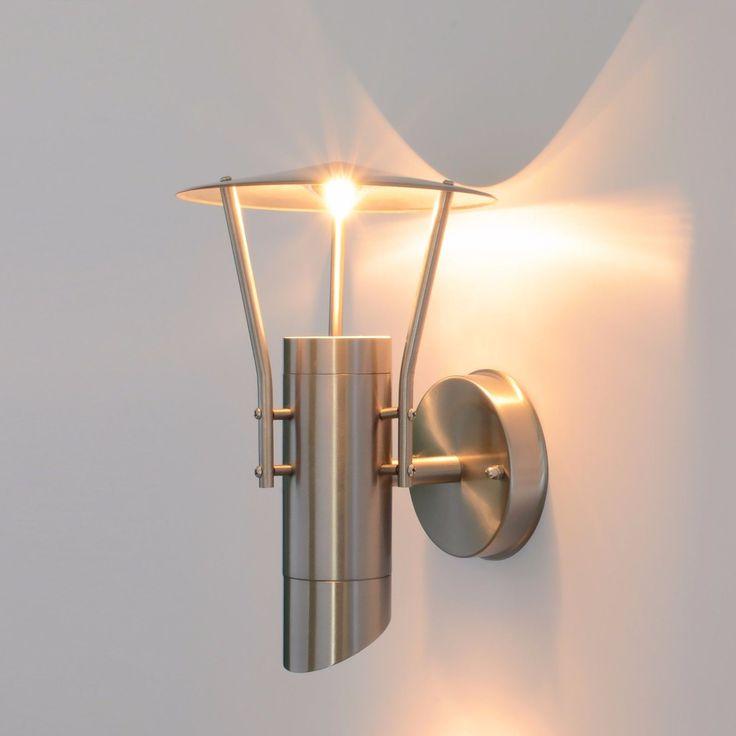 Außenleuchte LED Wandlampe Aussenlampe Lampe GU10 Edelstahl 242 Bewegungsmelder in Heimwerker, Lampen & Licht, Außenleuchten | eBay!