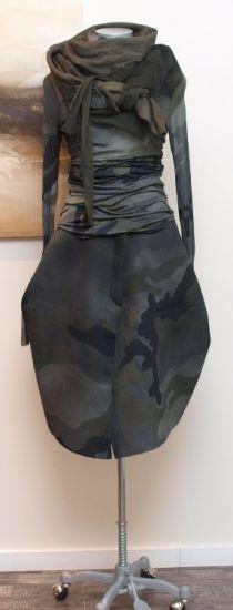 stilecht - mode für frauen mit format... - rundholz dip - Shirtbluse Camouflage grey - Winter 2014