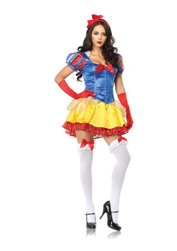 snow white med large adult halloween or theatre costume classic snow white costume womens adult medium large the cartoon zone cartoon zone - Exotic Halloween Costume
