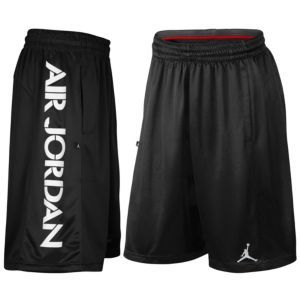 Jordan AJ Bright Lights Short - Men's - Basketball - Clothing - Black/White