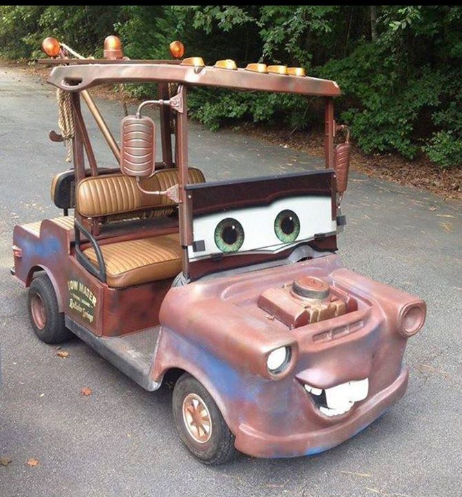 Mater golf cart (Who thinks of these things?)