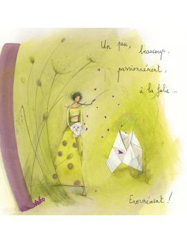 """Anne Sophie Rutsaert Art Card """"Un Peu, Beaucoup.."""""""