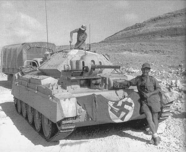 A Captured British Crusader Tank, Quickly Put Into Use By