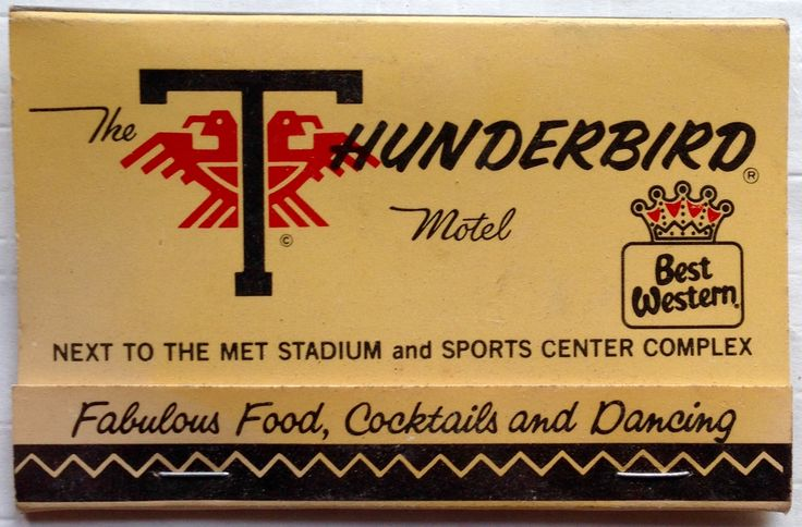 Thunderbird Motel #billboard #matchbook - To design & order your business' own logo #matches GoTo: GetMatches.com #phillumeny