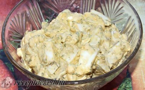 Citromos-kapros tojássaláta recept fotóval
